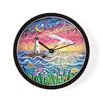 Lighthouse Seagull Wall Clock