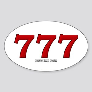 777 Oval Sticker