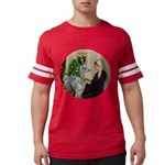 R-Xmas-WMom-BabyLlama Mens Football Shirt
