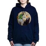 R-Xmas-WMom-BabyLlama Women's Hooded Sweatshirt
