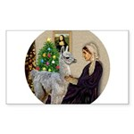 R-Xmas-WMom-BabyLlama Sticker (Rectangle 50 pk)