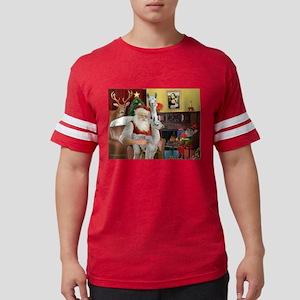 Santa with his Mama Llama Baby Mens Football Shirt