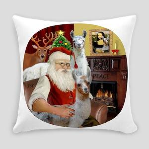 Santa with his Mama Llama Baby Everyday Pillow