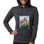 TILE-Mermaid by JBF Womens Hooded Shirt