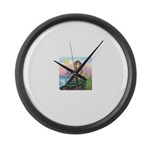 TILE-Mermaid by JBF Large Wall Clock