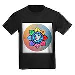 Many Paths to One God Kids Dark T-Shirt