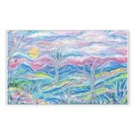 Pastel Country A (Enc) Sticker (Rectangle 50 pk)