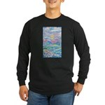 Pastel Country A (Enc) Long Sleeve Dark T-Shirt