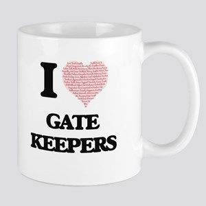 I love Gate Keepers (Heart made from words) Mugs