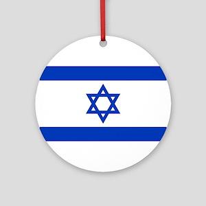 Israel Flag Round Ornament