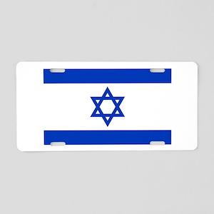 Israel Flag Aluminum License Plate