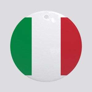 Italy Flag Round Ornament