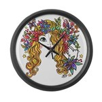 Pretty Face 1C Large Wall Clock