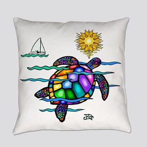 Sea Turtle Everyday Pillow