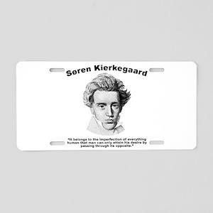Kierkegaard Desire Aluminum License Plate