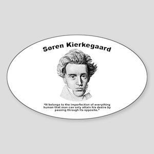 Kierkegaard Desire Sticker (Oval)