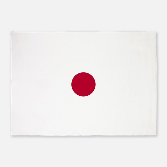 Japan Flag 5'x7'Area Rug