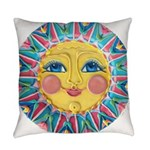PLATE-SpringSun w-Flowers-ULd Everyday Pillow