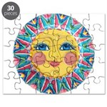 PLATE-SpringSun w-Flowers-ULd Puzzle