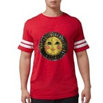 PLATE-SunFace-Black-rev Mens Football Shirt