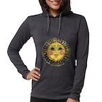 PLATE-SunFace-Black-rev Womens Hooded Shirt