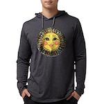 PLATE-SunFace-Black-rev Mens Hooded Shirt