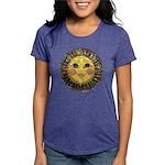 PLATE-SunFace-Black-rev Womens Tri-blend T-Shirt