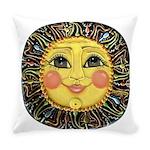 PLATE-SunFace-Black-rev Everyday Pillow