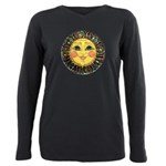 PLATE-SunFace-Black-rev Plus Size Long Sleeve Tee