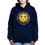 PLATE-SunFace-Black-rev Women's Hooded Sweatshirt