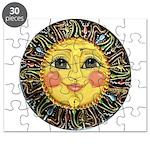 PLATE-SunFace-Black-rev Puzzle
