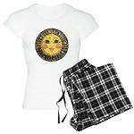 PLATE-SunFace-Black-rev Women's Light Pajamas
