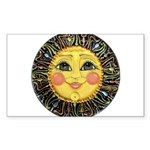 PLATE-SunFace-Black-rev Sticker (Rectangle 50 pk)