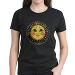 PLATE-SunFace-Black-rev Women's Classic T-Shirt