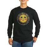 PLATE-SunFace-Black-rev Long Sleeve Dark T-Shirt
