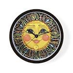 PLATE-SunFace-Black-rev Wall Clock