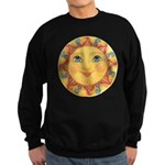 PLATE-Sun-Red-goldballs-rev Sweatshirt (dark)