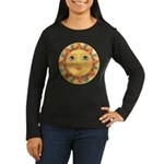 PLATE-Sun-Red-goldballs-rev Women's Long Sleeve Da