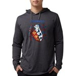 Harrell Coat of Arms Mens Hooded Shirt