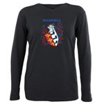 Harrell Coat of Arms Plus Size Long Sleeve Tee