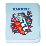 Harrell Coat of Arms baby blanket