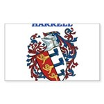 Harrell Coat of Arms Sticker (Rectangle 50 pk)