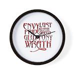 Seven Sins Wall Clock