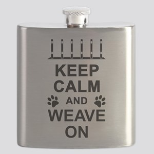 Keep Calm and Weave On Flask