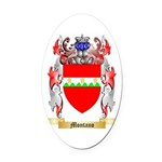 Montano Oval Car Magnet