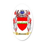 Montanes Oval Car Magnet