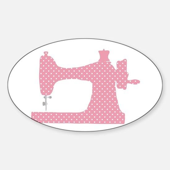 Polka Dot Sewing Machine Decal
