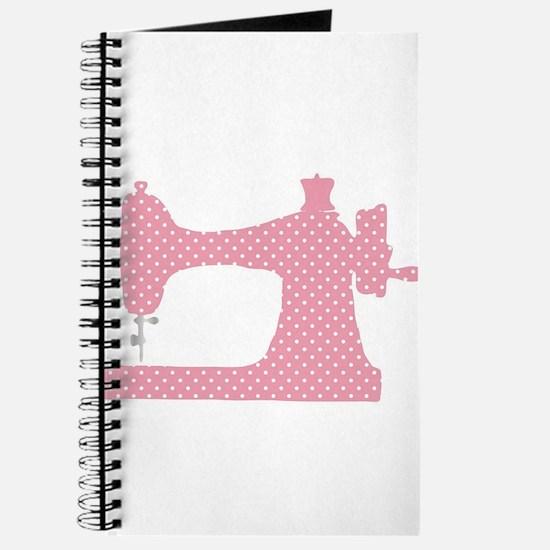 Polka Dot Sewing Machine Journal