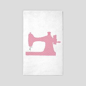 Polka Dot Sewing Machine Area Rug