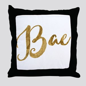 Golden Look Bae Throw Pillow